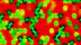 Kleurrijke die Achtergrond van Kubussen wordt gemaakt Stock Fotografie