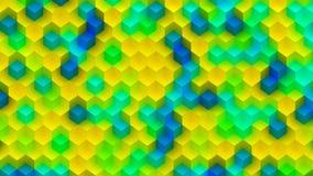Kleurrijke die Achtergrond van Kubussen wordt gemaakt Stock Afbeelding