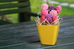 Kleurrijke die Bloemen van Zepen worden gemaakt Stock Foto