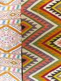Kleurrijke die dekenachtergrond in twee secties wordt verdeeld royalty-vrije stock afbeelding