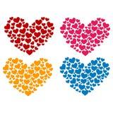 Kleurrijke die Hartvorm met Hart wordt gevuld Stock Foto