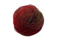 Kleurrijke die yarnball op wit wordt geïsoleerd Royalty-vrije Stock Foto