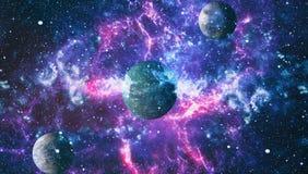 Kleurrijke diepe ruimte De achtergrond van het heelalconcept Elementen van dit die beeld door NASA wordt geleverd royalty-vrije illustratie