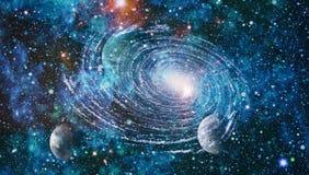 Kleurrijke diepe ruimte De achtergrond van het heelalconcept Elementen van dit die beeld door NASA wordt geleverd stock illustratie
