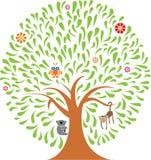 Kleurrijke dierlijke boom Stock Fotografie