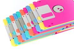 Kleurrijke disketteisolatie Stock Fotografie