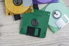 Kleurrijke diskettes royalty-vrije stock afbeelding