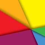 Kleurrijke document achtergrond met lijnen & schaduwen - v vector illustratie