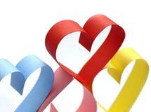 Kleurrijke document harten Royalty-vrije Stock Afbeeldingen