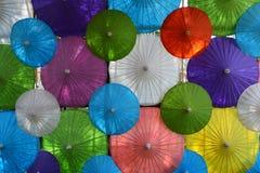 Kleurrijke Document paraplu met de hand gemaakte paraplu Royalty-vrije Stock Foto