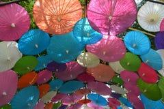 Kleurrijke Document paraplu met de hand gemaakte paraplu Stock Afbeeldingen
