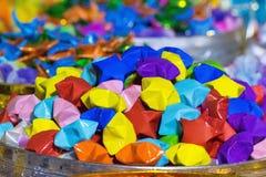 Kleurrijke document sterren van Thailand Royalty-vrije Stock Afbeeldingen