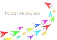 Kleurrijke document vliegtuigen Royalty-vrije Stock Fotografie