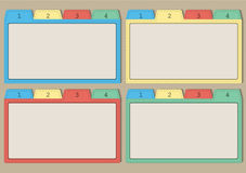 Kleurrijke documenten malplaatjes vector illustratie
