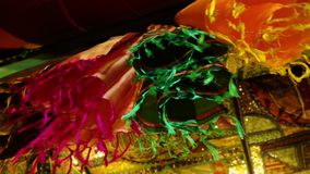 Kleurrijke doeken in Afghanistan stock videobeelden