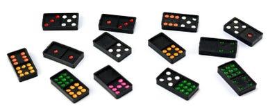 Kleurrijke domino royalty-vrije stock afbeeldingen