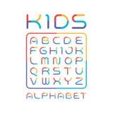Kleurrijke doopvont Speels alfabet Moderne vector grappige lettersoort royalty-vrije illustratie