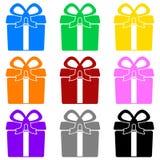 Kleurrijke doos Stock Foto's