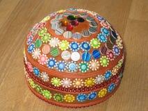 Kleurrijke doos met verschillende vormen royalty-vrije stock afbeeldingen