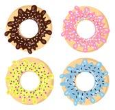 Kleurrijke doughnutreeks Royalty-vrije Stock Afbeeldingen