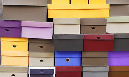 Kleurrijke dozen Royalty-vrije Stock Foto's