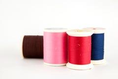 Kleurrijke draad Stock Foto's