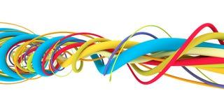 Kleurrijke draden Stock Foto's