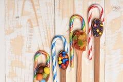 Kleurrijke dragee met marmelade en karamelsuikergoed Royalty-vrije Stock Afbeelding