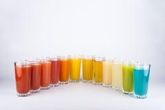 Kleurrijke dranken Stock Foto