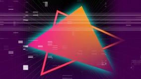 Kleurrijke driehoeken met lawaai