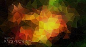 Kleurrijke driehoeks geometrische achtergrond Stock Afbeeldingen