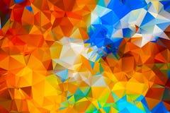 Kleurrijke driehoeksachtergrond Royalty-vrije Stock Foto's