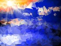 Kleurrijke driehoeksachtergrond Stock Afbeeldingen