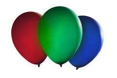 Kleurrijke drijvende ballons Stock Afbeeldingen