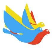 Kleurrijke duif Stock Foto