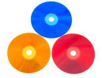 Kleurrijke DVDs Stock Fotografie
