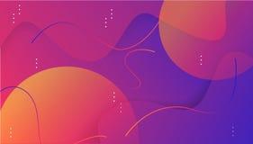 Kleurrijke dynamische vormensamenstelling op gradiëntachtergrond stock illustratie