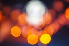 Kleurrijke echte lichte bokehachtergrond Royalty-vrije Stock Foto's