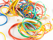 Kleurrijke elastiekjes stock foto