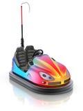 Kleurrijke elektrische bumperauto Stock Afbeeldingen