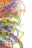 Kleurrijke elektrokabels Stock Afbeeldingen