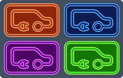 Kleurrijke elektrovoertuigreeks Stock Fotografie