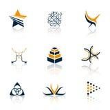 Kleurrijke emblemen vector illustratie