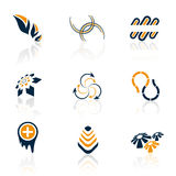 Kleurrijke emblemen stock illustratie