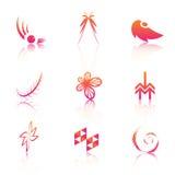 Kleurrijke emblemen royalty-vrije illustratie
