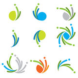 Kleurrijke emblemeninzameling Stock Foto