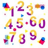 Kleurrijke en dinamic aantallen voor om het even welk gebruik in media Royalty-vrije Stock Foto