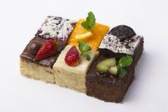 Kleurrijke en diverse cakes Royalty-vrije Stock Afbeeldingen