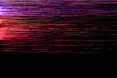 Kleurrijke en rode glitch achtergrond Stock Afbeelding