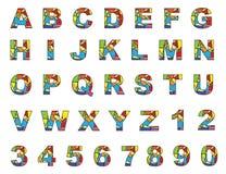 Kleurrijke Engelse brieven a aan z Royalty-vrije Stock Foto's